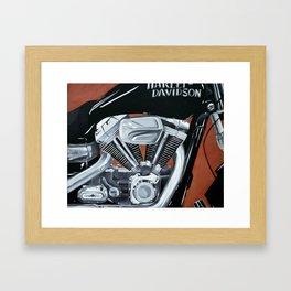 Harley Rider Framed Art Print