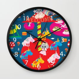 Welcome to Wonderland Wall Clock
