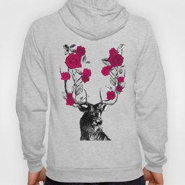 The Stag and Roses | Red Hoody