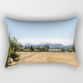 Clouds sleeping on the mountain in California Rectangular Pillow