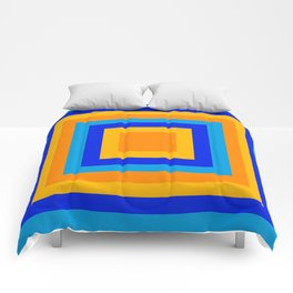 Square orange Comforters