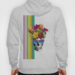 Colorful Cool Hip Skull with flowers Hoody