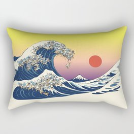 The Great Wave Of  Cat Rectangular Pillow