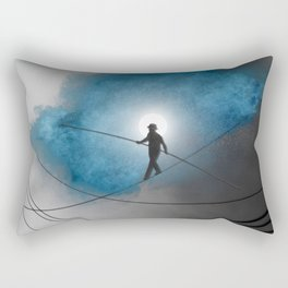 We walk a tightrope every day... Rectangular Pillow