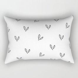 Two Leaves Rectangular Pillow