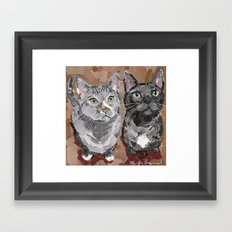 Stash and Foogers Framed Art Print