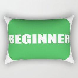 Text Beginner Rectangular Pillow