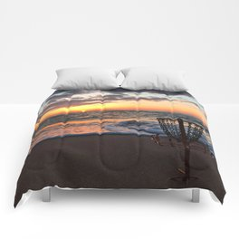 Disc Golf Basket Sunset Virginia Beach Chesapeake Innova Discraft Ocean Waves Comforters