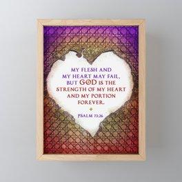 The Strength of My Heart Framed Mini Art Print