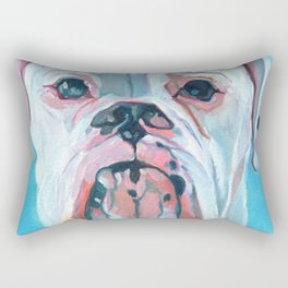 Otis the White Boxer Rectangular Pillow