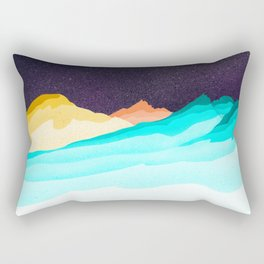 Three Sisters Mountains Rectangular Pillow