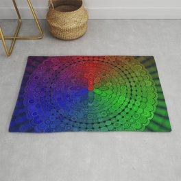 RGB Mandala Rug