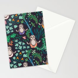 yoga sloths Stationery Cards