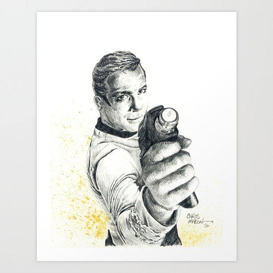 Star Trek: Capt. James T. Kirk Art Print