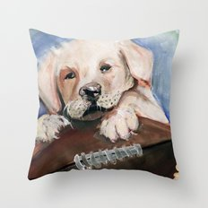 Puppy Touchdown Throw Pillow