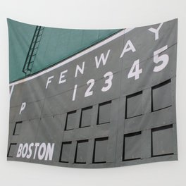 Fenwall -- Boston Fenway Park Wall, Green Monster, Red Sox Wall Tapestry