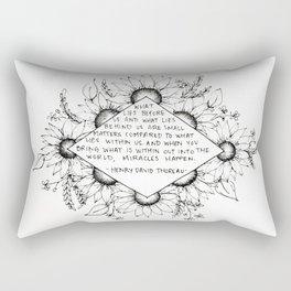 Thoreau Sunflower Rectangular Pillow