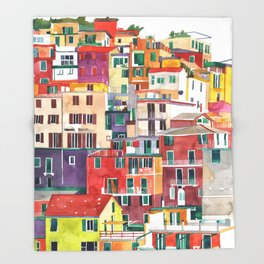 Cinque Terre Throw Blanket