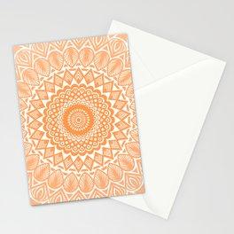 Orange Tangerine Mandala Detailed Textured Minimal Minimalistic Stationery Cards