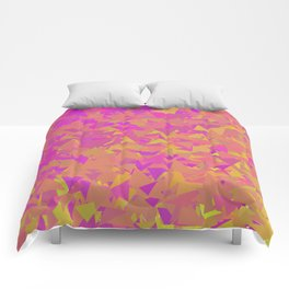 Pink, Orange, and Yellow Triangles Comforters