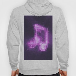 Beamed Eight music note symbol. Abstract night sky background Hoody