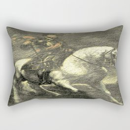 Charles V on his Horse Rectangular Pillow