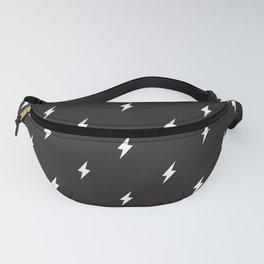 Lightning Bolt Pattern Black & White Fanny Pack