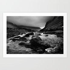 Capel Curig, Snowdonia, Wales. Art Print