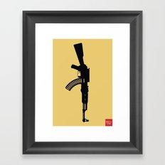 Art Not War - Yellow Framed Art Print