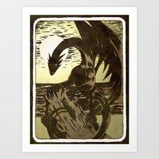 Dragon Card Art Print