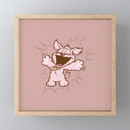 Luna & Lolli Pink - Lolli the Performer Framed Mini Art Print