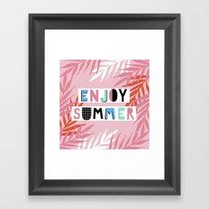 Enjoy summer Framed Art Print