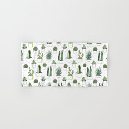 Watercolour Cacti & Succulents Hand & Bath Towel