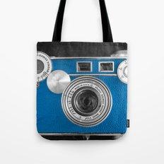 Dazzel blue Retro camera Tote Bag