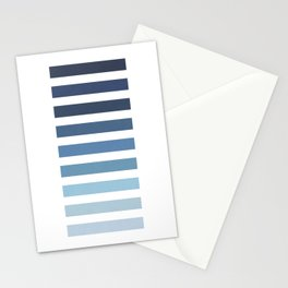 Sky and Water Blue Palette Stationery Cards
