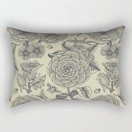 Garden Bliss - vintage floral illustrations  Rectangular Pillow