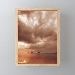 Sunset Storm Framed Mini Art Print