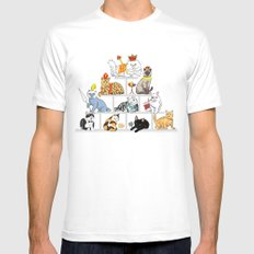 Cats Pyramid Mens Fitted Tee White MEDIUM