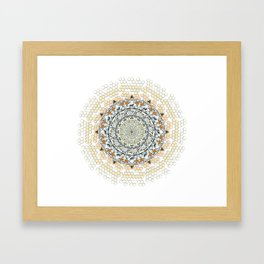 Overlapping Bee Mandala (Color) Framed Art Print