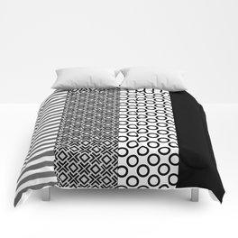 Black white block Nordic Comforters