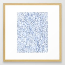 Blue Grass Framed Art Print