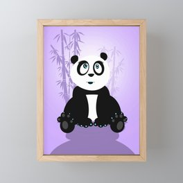 Panda Girl - Purple Framed Mini Art Print