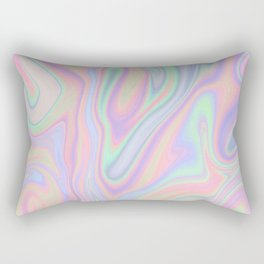 Liquid Colorful Abstract Rainbow Paint Rectangular Pillow