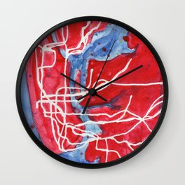 My Messy NYC Subway Map Wall Clock