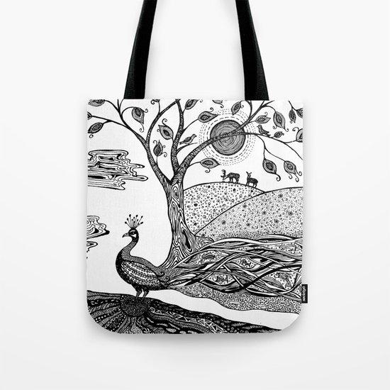 Peacock Fantasy Tote Bag