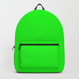 From The Crayon Box – Electric Lime - Bright Green - Neon Green Solid Color Backpack