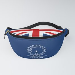London (Blue) Fanny Pack