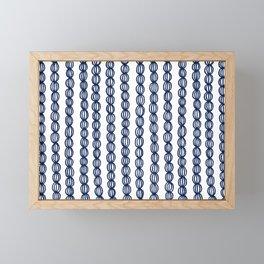 Blue Strings Framed Mini Art Print