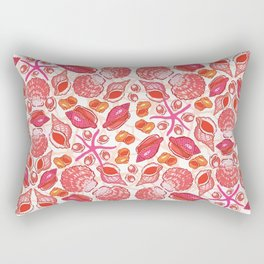 She Sells Sea Shells with Coral Rectangular Pillow