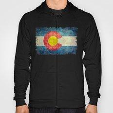 Colorado State flag - Vintage retro style Hoody